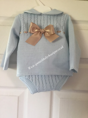 Spanish style baby girls knit sets 3-6 Months romany