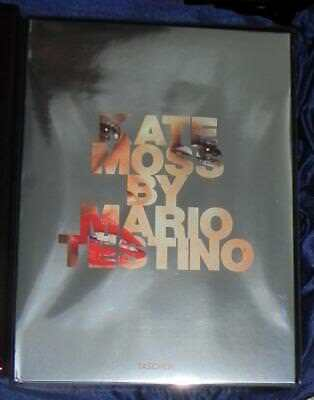 """Kate Moss by Mario Testino Taschen Signed Limited Edition Huge 18"""" x 13""""!"""