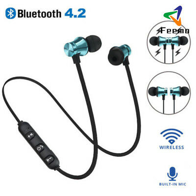 Bluetooth Magnet Wireless Sports Earphone Headset Headphone For Samsung IPhone