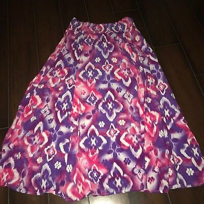 Justice Pink Blue White Long Skirt Modest Girls Size 12