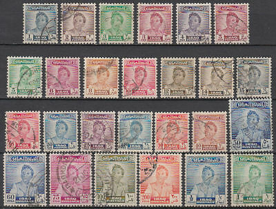 Irak Iraq 1948 used Mi.127/48 und 160/63 Freimarken Definitives, 26 W. [gb789]