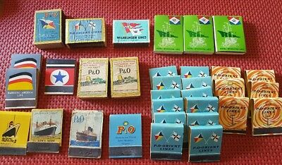 Vintage Match Books and Boxes from Cruise Ships