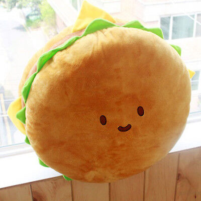 "Cotton Food Hamburger 40cm 16"" Character Pillow Cushion Plush Toy Doll"