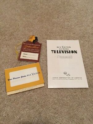 1950 RCA Victor Eyewitness Television Instruction Manual Model 8-T-241