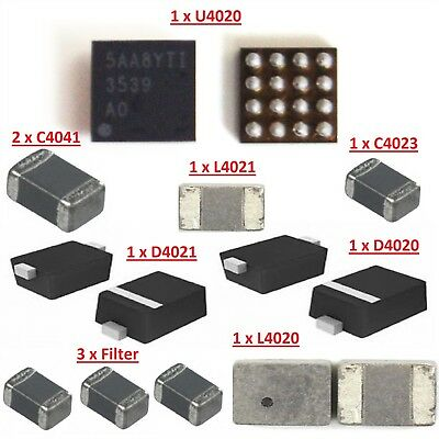 For iPhone 6S Backlight Circuit Repair Chips Kit With IC Coil Diode & Filters