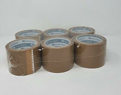 Extra Wide 3'' Buff/Brown & Clear Parcel Packing Tape 75mm X 66M - GREAT QUALITY