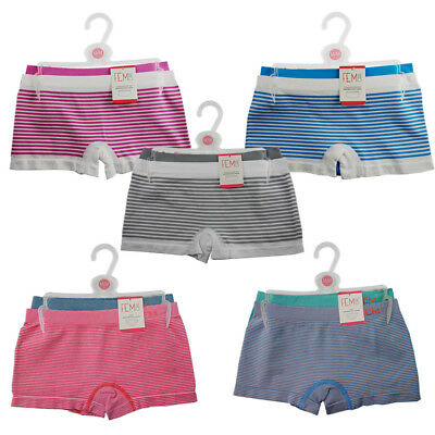 FEM GIRL Children's Seamless Boy Short Panties Striped Underwear - 4 Pack