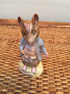 Beswick Beatrix Potter Johnny Town Mouse Gold circle back stamp