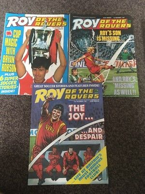 Roy Of The Rovers Comics X 3 1987 Vintage Football