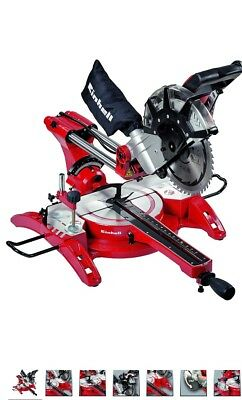Einhell 4300825 TH-SM 2534 Dual Troncatrice Radiale, Rosso/Argento