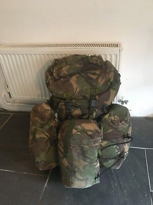 grade A, UK armed forces, dpm bergen with 3 side pouches, 130L