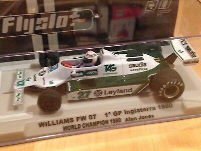 FLY SLOT Williams FW07B UK WORLD CHAMPION 1980 Alan Jones, Art 055107
