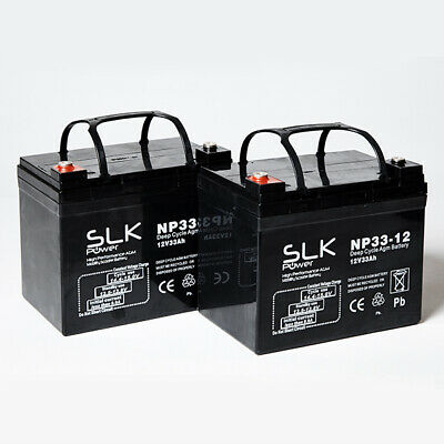 PAIR 12v 33AH MOBILITY SCOOTER WHEELCHAIR BATTERIES AS 30AH 32AH 34AH 35AH 36AH