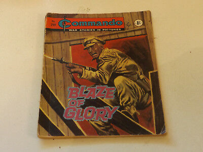 Commando War Comic Number 299,1967 Issue,fair For Age,51 Years Old,very Rare.