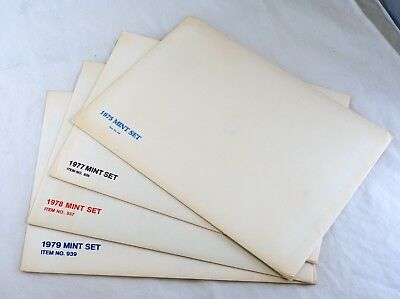 USA 1975 1977 1978 1979 Stamps Postage Year Collection Souvenir Folders Mint NH