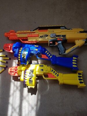 nerf gun bundle with some bullets