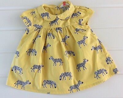 Baby Girl 18-24 Months John Lewis Yellow Blouse With Zebras Printed Summer Hols