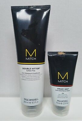 Mitch By Paul Mitchell Double Hitter Sulfate Free 2 in 1 & Steady Grip Firm Gel