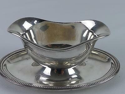 (Ref165CC) Superb Christofle Silver Plated Gravy Boat and Stand
