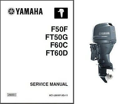 Yamaha F50 F60 FT50 FT60 Outboard Motor Service Repair Manual CD ..  F FT 50 60
