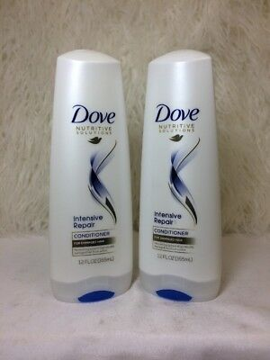 Lot Of 2 Dove Intensive Repair Conditioner For Damaged Hair W/ Keratin Actives