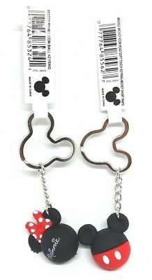 Mickey or Minnie Key Chain Ring ICON Ball Red Bow or Mickey Pants DISNEY NWT