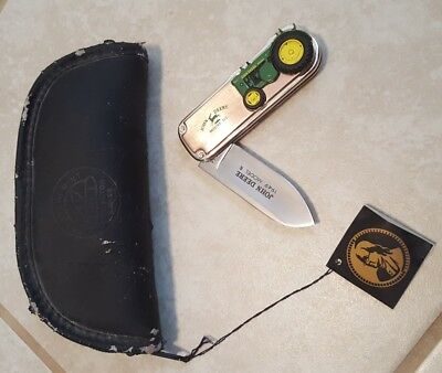 Used* John Deere Knife 1949 Model R Franklin Mint Collector knives pouch tractor