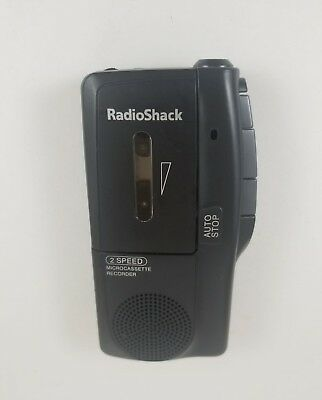 Radio Shack 2-Speed MicroCassette Recorder - Tested and Works! 14-1148