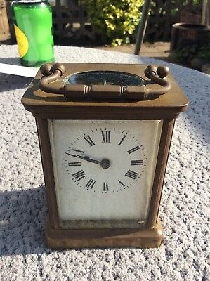 Antique Small French Brass Carriage Clock For Restoration
