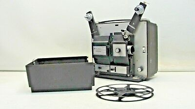Bell & Howell 481 A Super 8/ Standard 8mm Slow Motion Movie Projector works