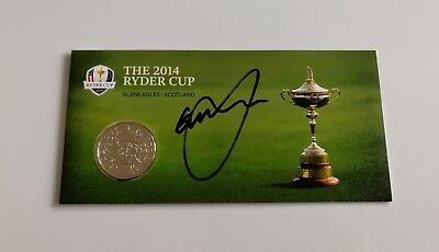 Graeme McDowell signed Ryder Cup 2014 Gleneagles commemorative coin / COA
