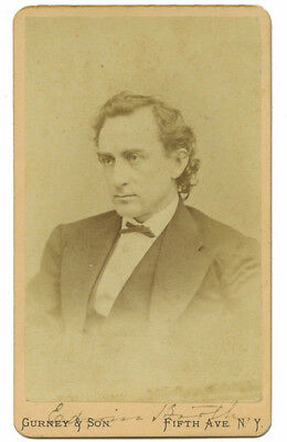 Edwin Booth (John Wilkes brother) Original Antique Autographed Photo 1880