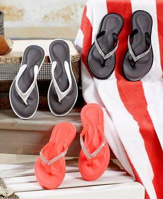 fb2f57df3d797 Women s Memory Foam Comfort Sandals Flip Flops Shoes Bling Sizes 7-10 ...