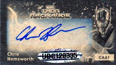 2018 Upper Deck Marvel Thor: Ragnarok CAA1 Chris Hemsworth Auto Autograph Mini