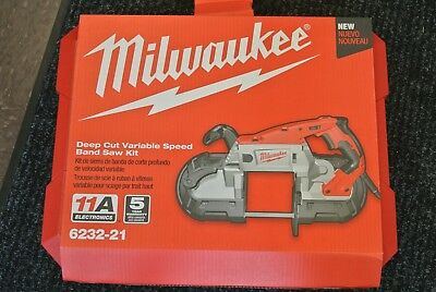 Milwaukee 6232-21 Deep Cut Variable Speed Band Saw Kit NEW FREE SHIPPING !!!!!!!