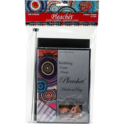 Colonial Needle PHR-200 Pleachet Rug Needle, How-To Booklet & DVD-