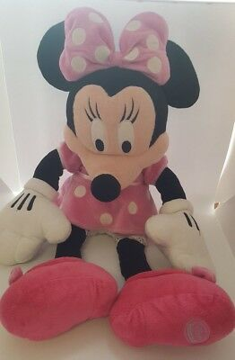 """Minnie Mouse Disney Classic Plush Large Soft Toy Pink - 24"""""""