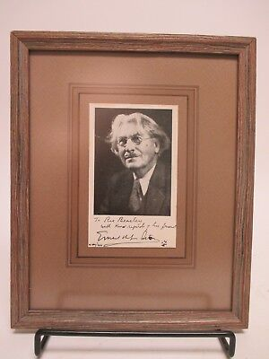 "SIGNED Ernest Thompson Seton 3.5x5.5"" Picture AUTOGRAPHED Boy Scouts BSA -Author"