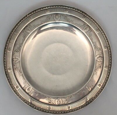 R Wallace & Sons Sterling Silver Footed Serving Tray Platter Salver Art Nouveau