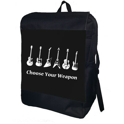 Guitar Choose Your Weapon College School Backpack