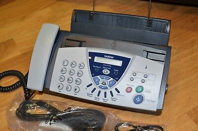 Brother FAX-T106 Fax machine/telephone with answering VGC with new ribbon& leads