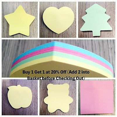 1200Sheets Post It Sticky Notes Removable Bookmark Memo GoodQuality Cute Notepad