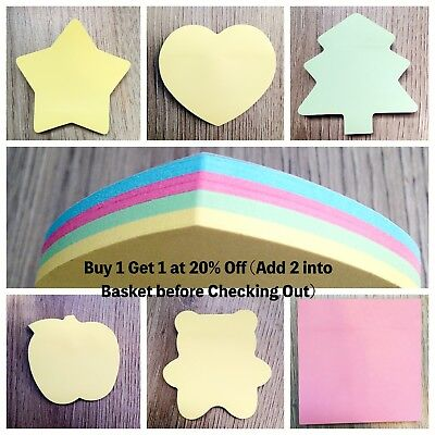 Assorted Post It Sticky Notes Removable Bookmark Memo Good Quality Cute Notepad