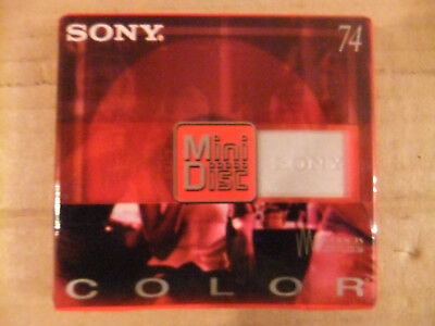 Sony Color (Red) Mini Disc / MDW74CRR Recordable. Shock Absorbing. Brand new!