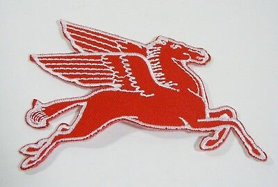 "PEGASUS-MOBIL OIL Embroidered Iron On Uniform-Jacket Patch 3.5"" Right Facing"