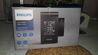 Philips AJ4800/12 Time projection-Clock-Radio-lcd-FM-rrp £79
