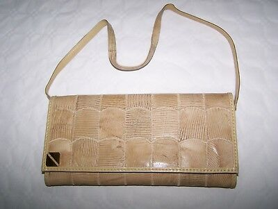 Borsa Pochette Lizard Vtg '70 Lizard Hand Bag Made In Italy
