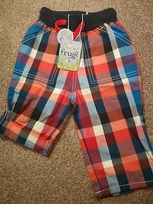 frugi baby boy 6-12months summer trousers bnwt