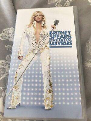 Britney Spears VHS Video Live From Las Vegas