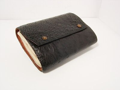 Vintage Antique Leather Cast & Fly Wallet - Retaining Well...